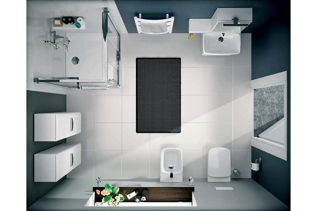 Przechowywanie w małej łazience, aranżacja marki Koło