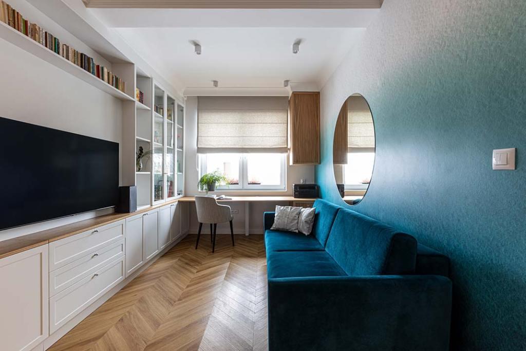 Przytulny dom dla rodziny - gabinet. Projekt Kowalczyk-Gajda Studio Projektowe