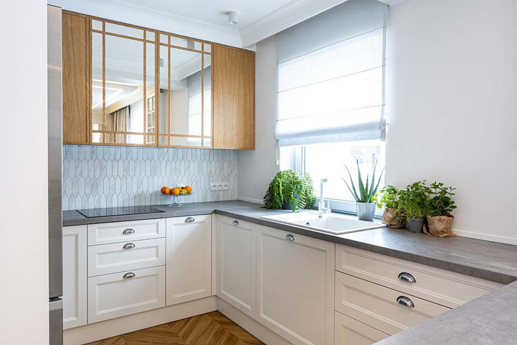 Przytulny dom dla rodziny - kuchnia. Projekt Kowalczyk-Gajda Studio Projektowe