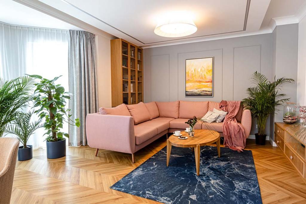 Przytulny dom dla rodziny - salon. Projekt Kowalczyk-Gajda Studio Projektowe