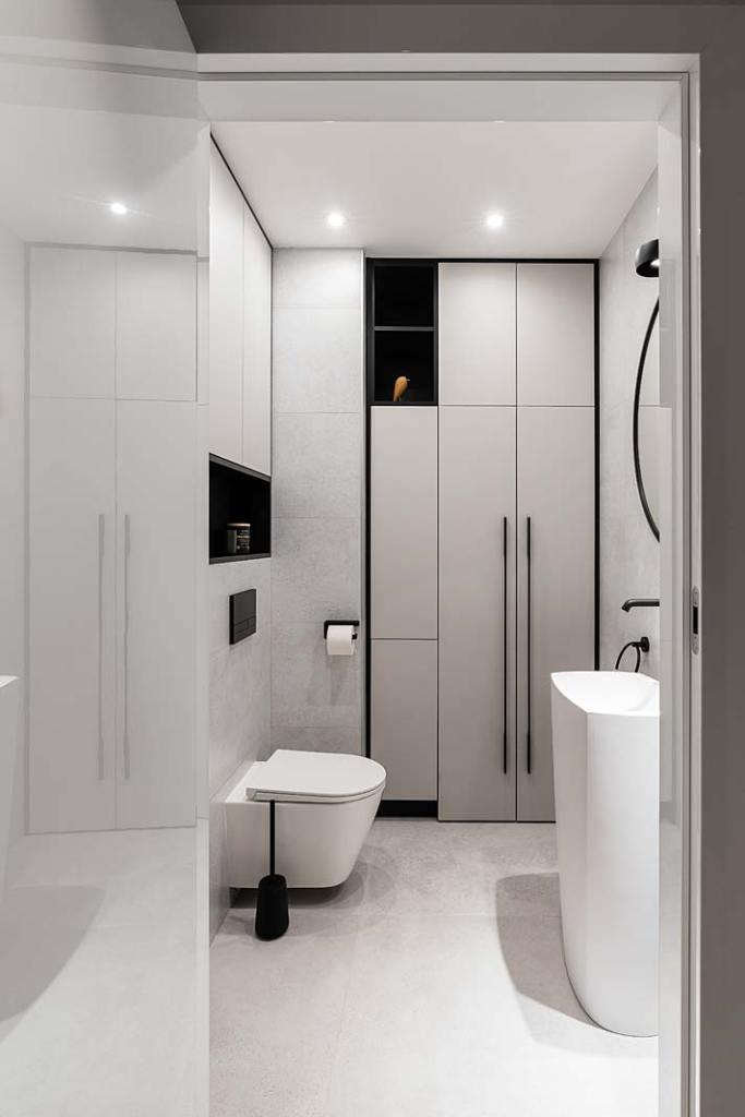 Rodzinny apartament, łazienka. Projekt Studio Projekt