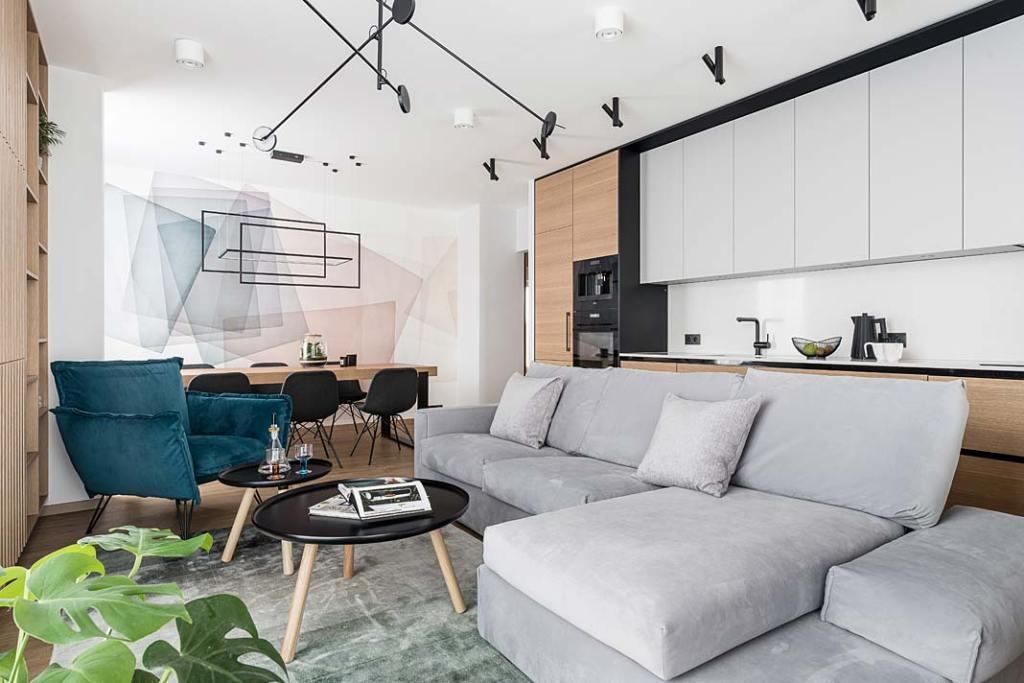 Rodzinny apartament. Projekt Studio Projekt