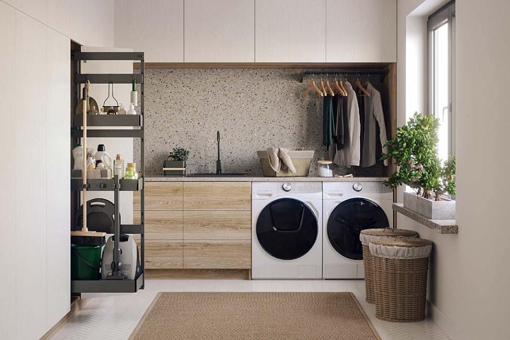 System organizacji House Master marki Rejs pomoże utrzymać porządek w szafkach gospodarczych
