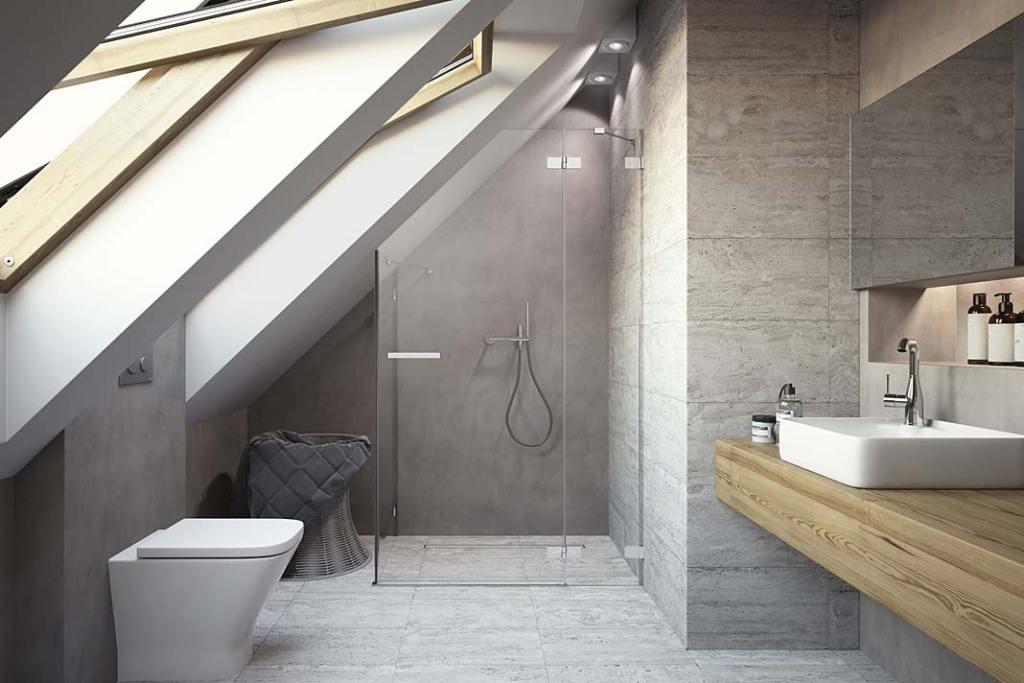 Toaleta połączona z łazienką, drzwi prysznicowe na wymiar marki Radaway