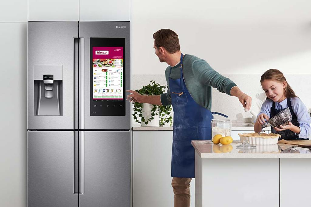 Wielofunkcyjne urządzenia AGD, lodówka Family Hub Samsung