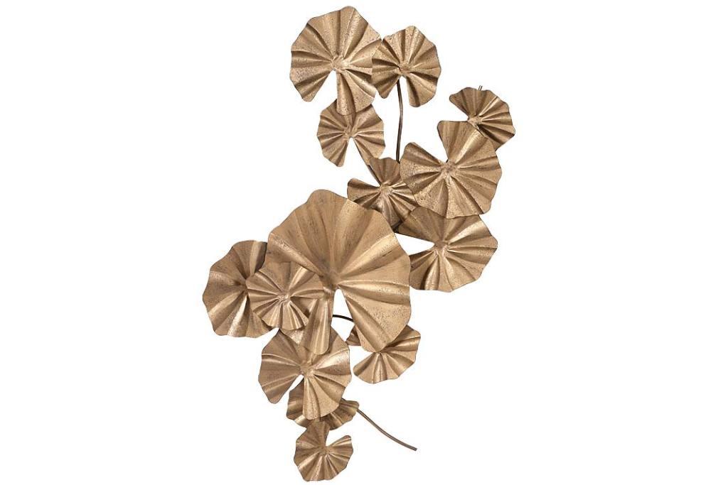Wystrój kuchni inspirowany Orientem, dekoracja ścienna Lily Pad Leaf od Audenza