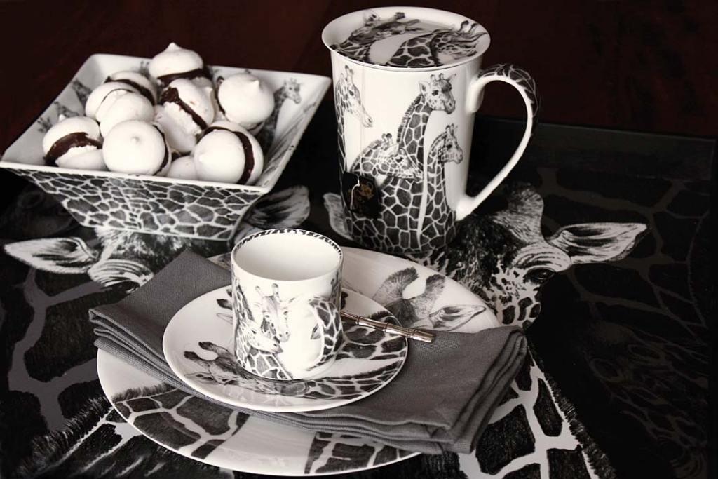 Zastawa stołowa inspirowana dziką przyrodą, porcelana marki Taitu