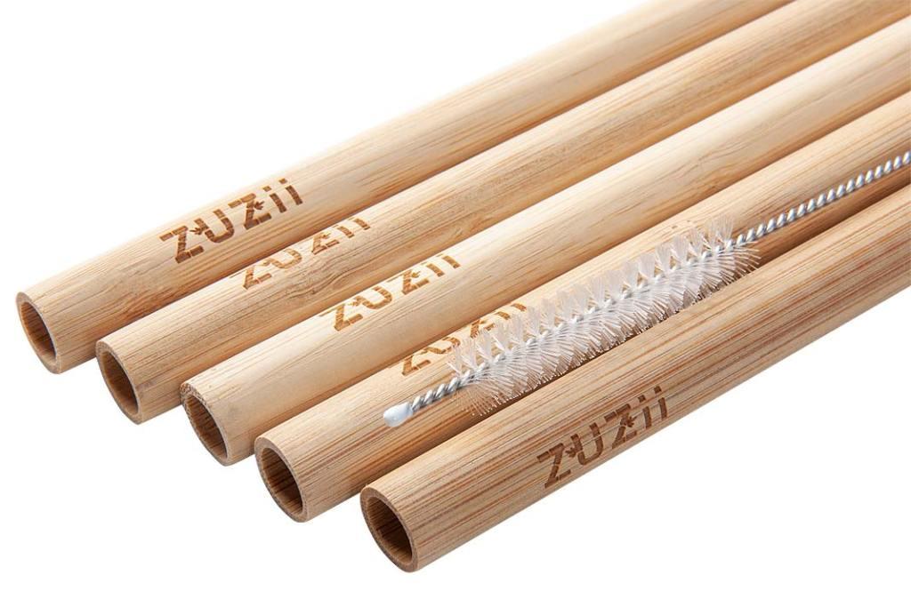 Zestaw bambusowych słomek wielokrotnego użytku