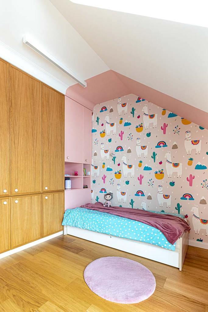 Pastelowy pokój dla dziewczynki. Projekt Kowalczyk-Gajda Studio Projektowe