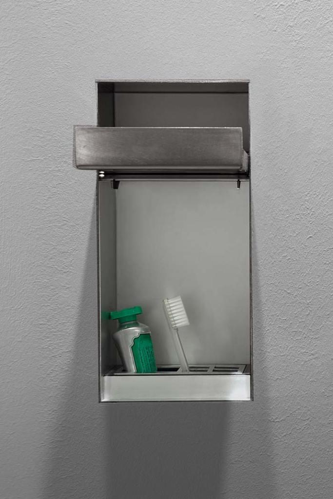 Akcesoria łazienkowe Antonio Lupi Sesamo, kubek na szczoteczkę i pastę do zębów