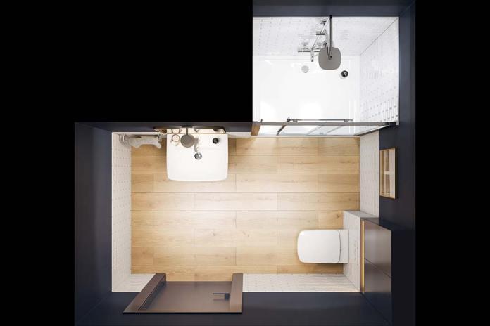 Aranżacja łazienki z przesuwnymi drzwiami prysznicowymi marki Koło