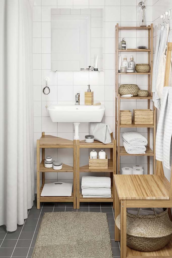 Bambusowe meble łazienkowe IKEA Ragrund