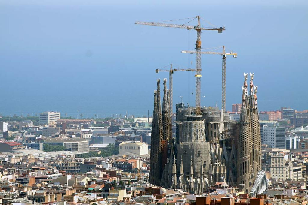 Barcelona, panorama z dachu katedry de la Santa Creu i Santa Eulalia