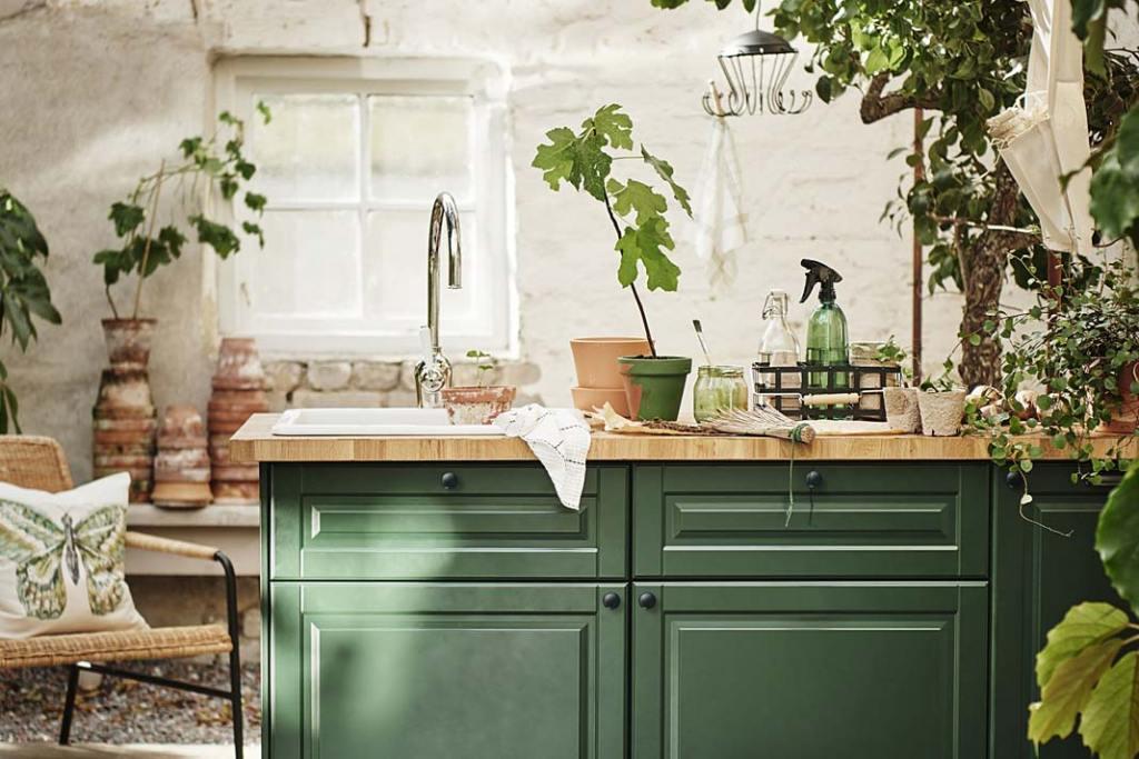 Blat kuchenny IKEA Skogarp z drewna brzozowego