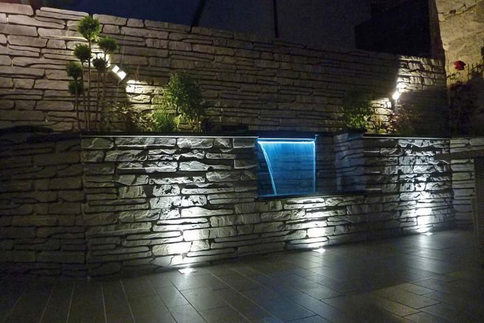 Dekoracje do ogrodu. Kaskada wodna i murek Albero marki Polbruk