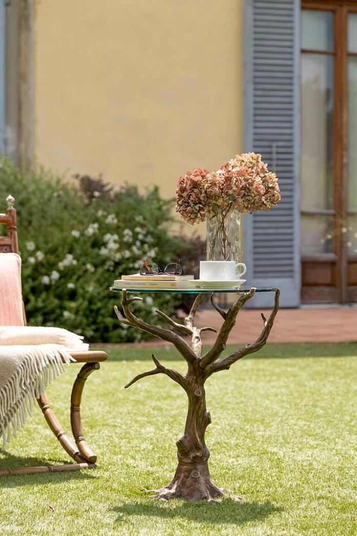 Dekoracje do ogrodu. Stolik kawowy Bronzetto Oak