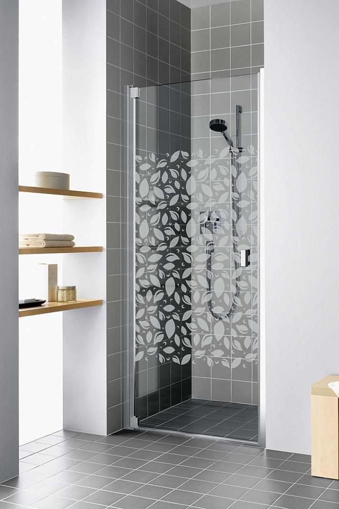 Drzwi prysznicowe Raya Kermi ze wzorem na szkle