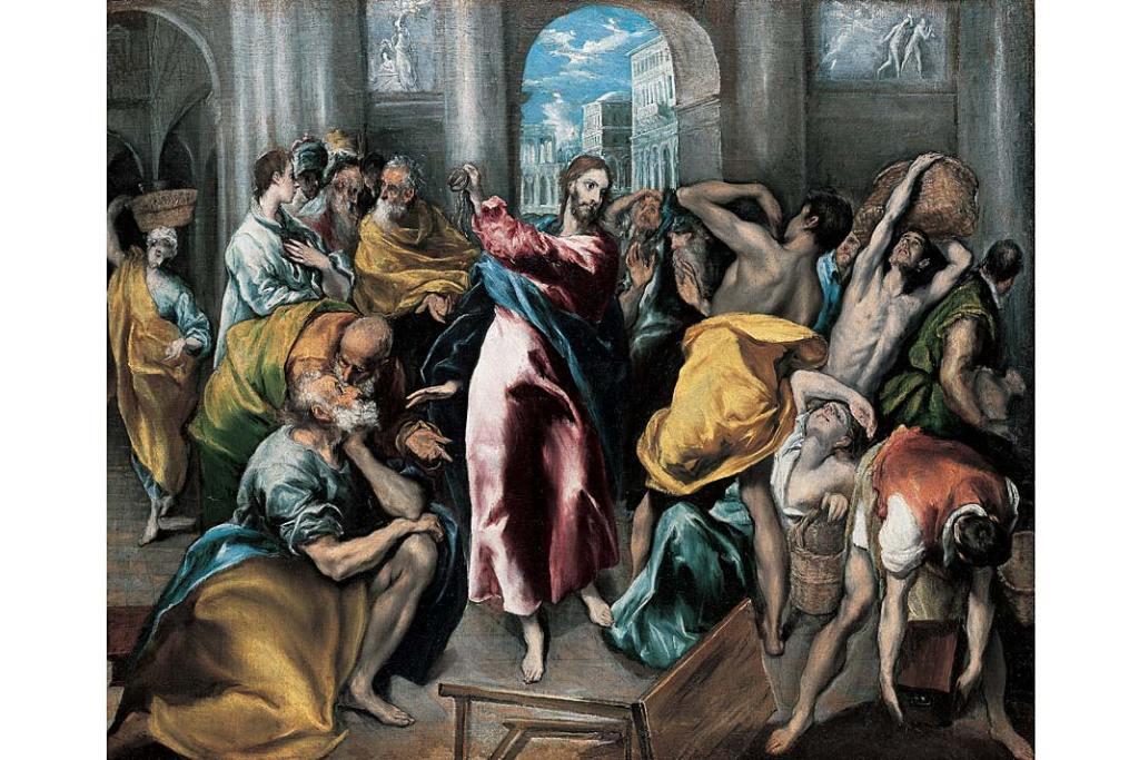 El Greco, Chrystus wypędzający przekupniów ze świątyni. Galeria Narodowa w Londynie - zbiory