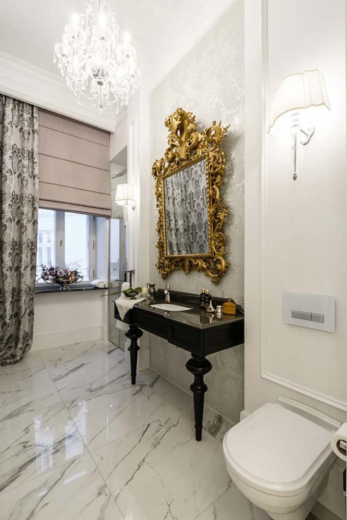 Elegancka gościnna łazienka z meblami firmy Akan