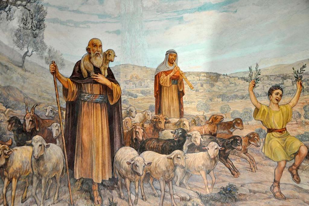 Fresk wkatolickiej kaplicy w Betlejem