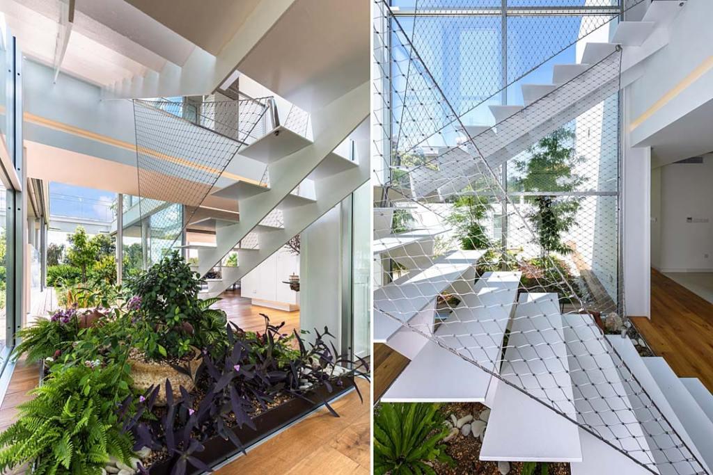 Garden House, zielony azyl w domu. Projekt Christos Pavlou Architecture