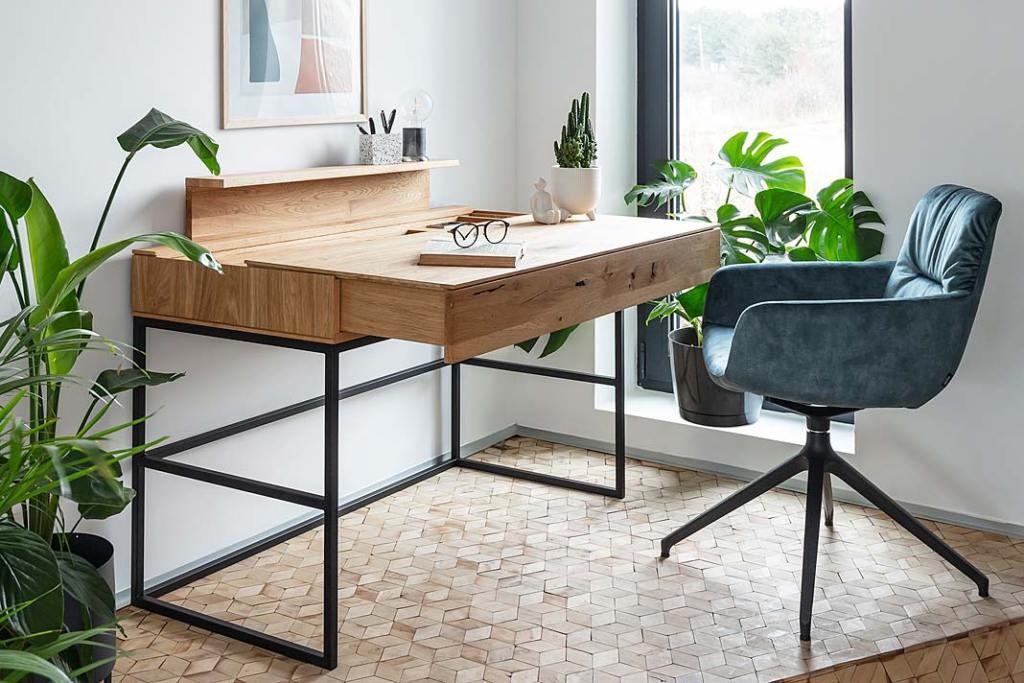 Home office, aranżacja z biurkiem Aria od Meble Matkowski
