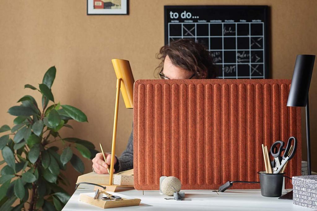 Home office, aranżacja z systemem Vox Creative