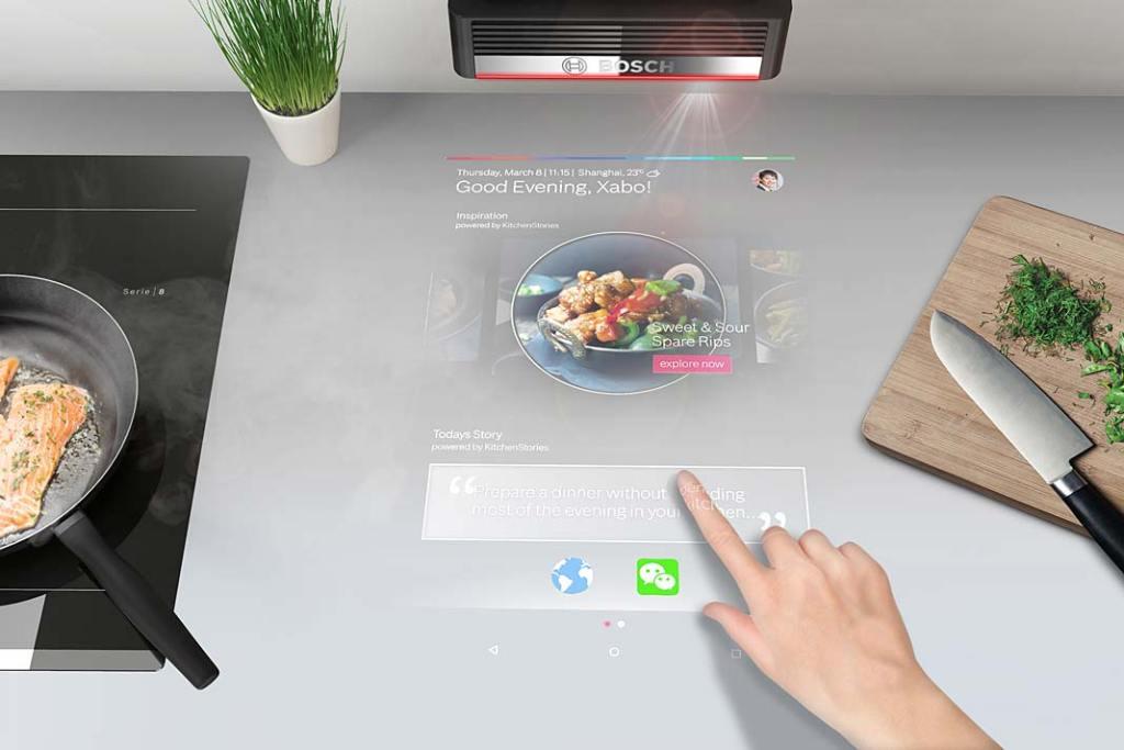 Męska kuchnia. Interaktywny projektor Bosch