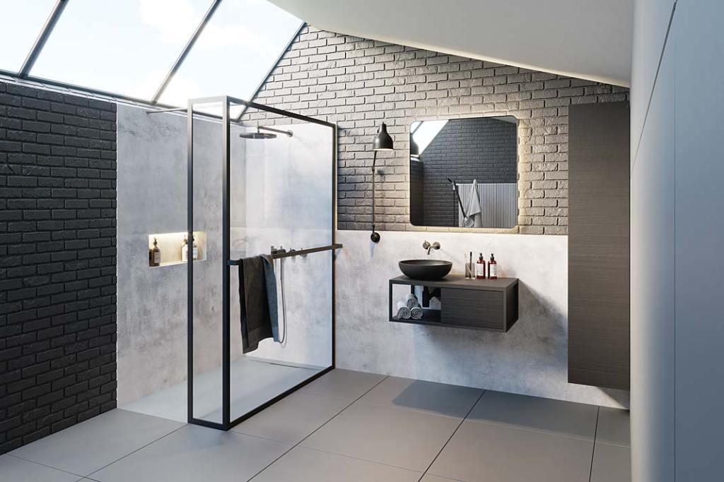 Kabiny prysznicowe na wymiar, seria Lucid marki Riho