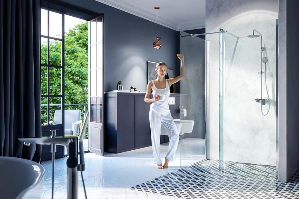 Kabiny prysznicowe na wymiar, seria VidoQ marki Excellent