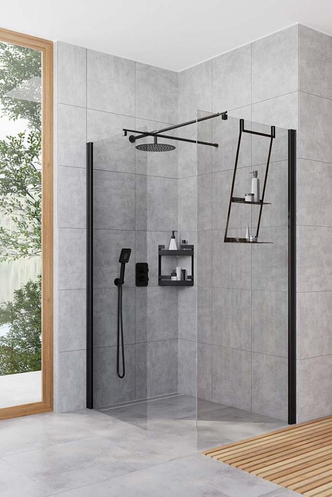 Kabiny prysznicowe na wymiar. Modułowy system zabudowy prysznica Deante Kerria Plus