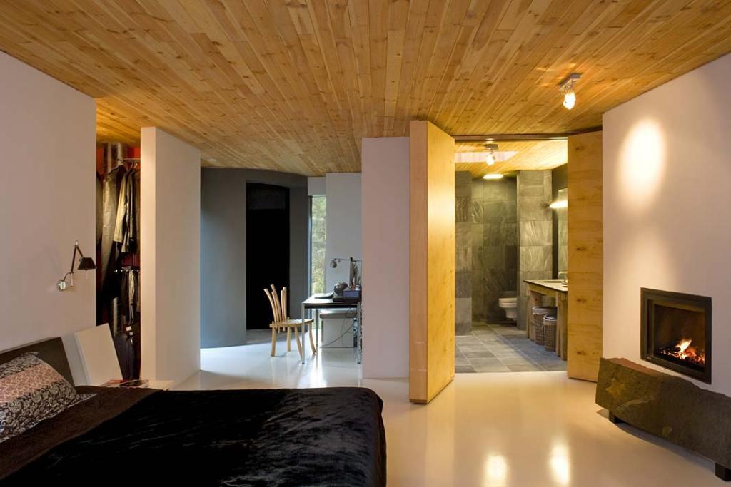 Kącik do pracy w sypialni. Projekt Kulczyński Architekt