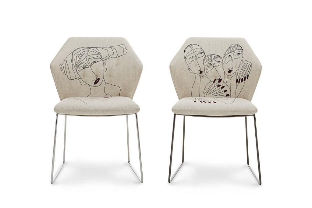 Piękne dekoracje do domu. Kolekcja krzeseł Faces marki Saba Italia
