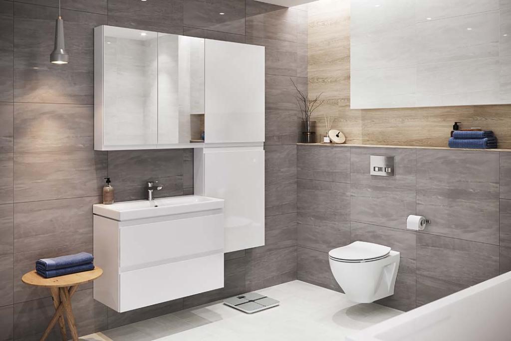 Meble łazienkowe z kolekcji Moduo marki Cersanit