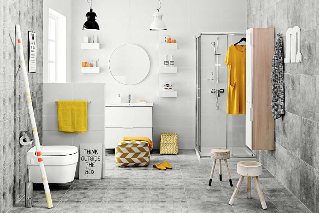 Kolory roku 2021 w łazience, aranżacja marki Ferro