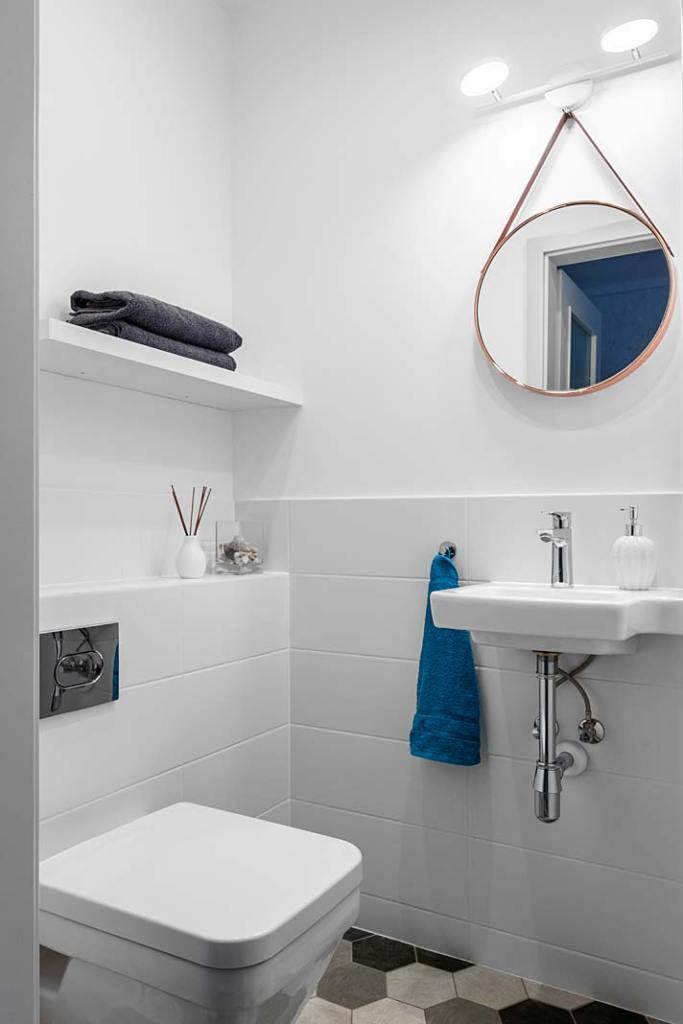 Łazienka dla gości. Projekt Decoroom