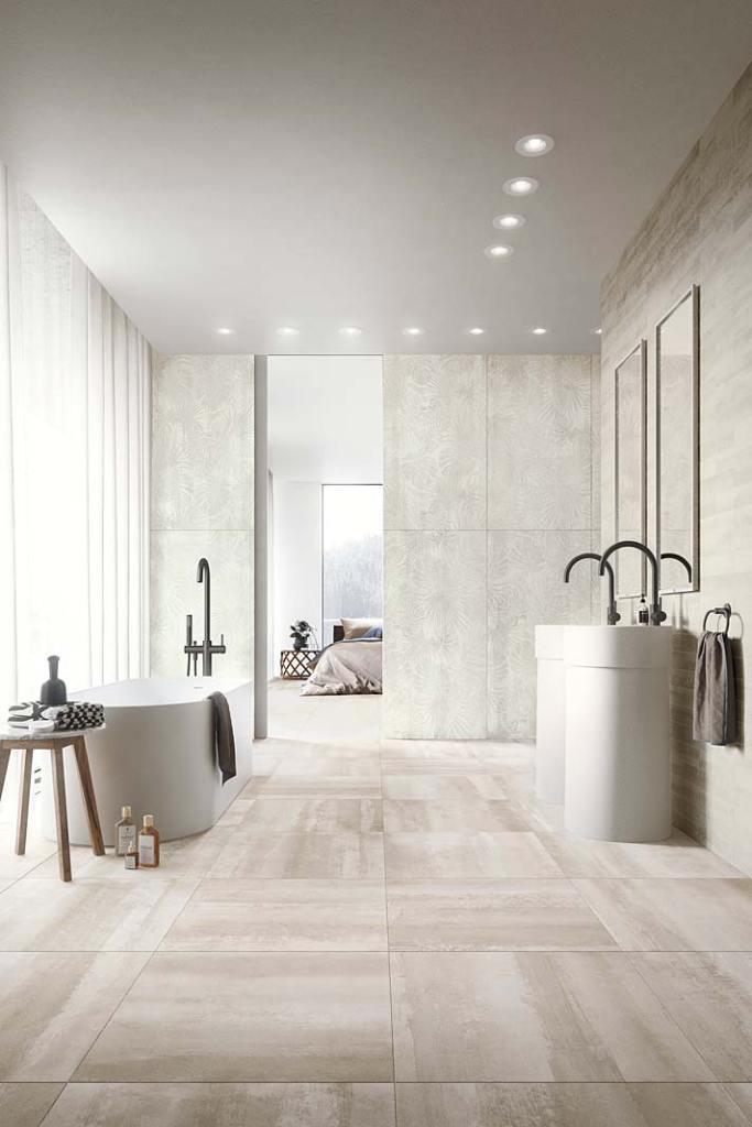 Przytulna sypialnia połączona z łazienką. Aranżacja marki Refin