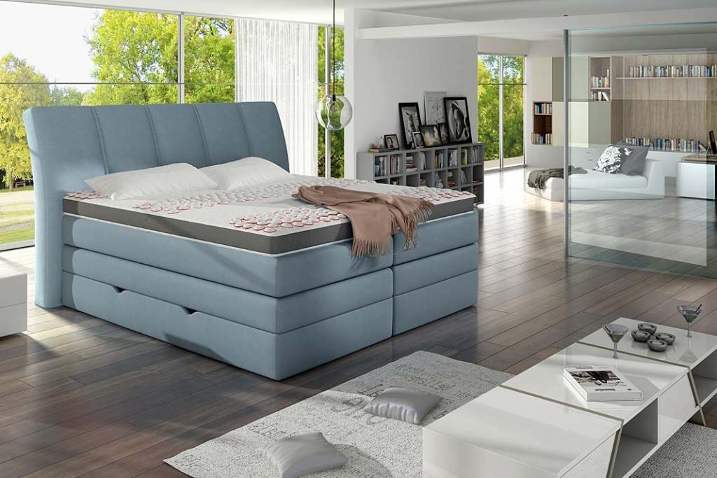 Łóżko kontynentalne Korfu marki Comforteo