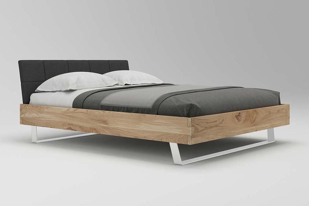 Łóżko z litej dębiny Steel marki Woodica
