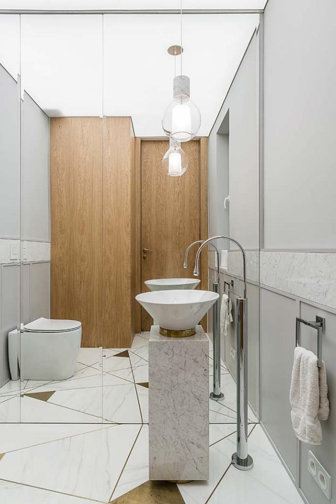 Mała łazienka. Projekt Magma