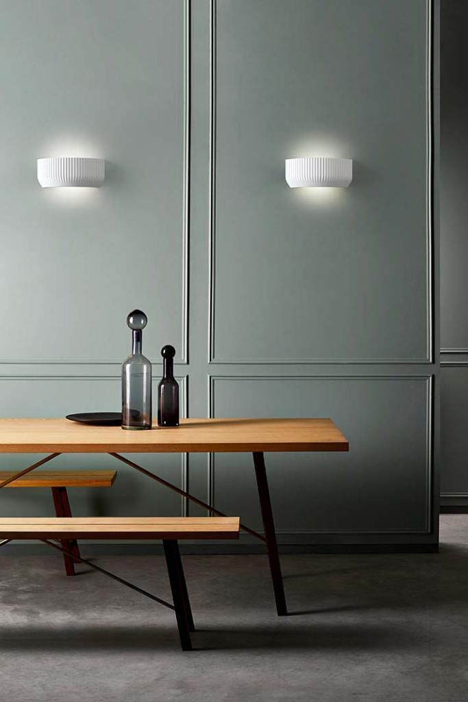 Modne oświetlenie, gipsowy kinkiet Blend marki Astro Lighting