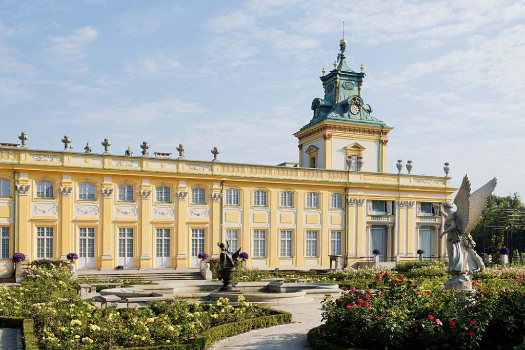 Ogród różany pałacu w Wilanowie