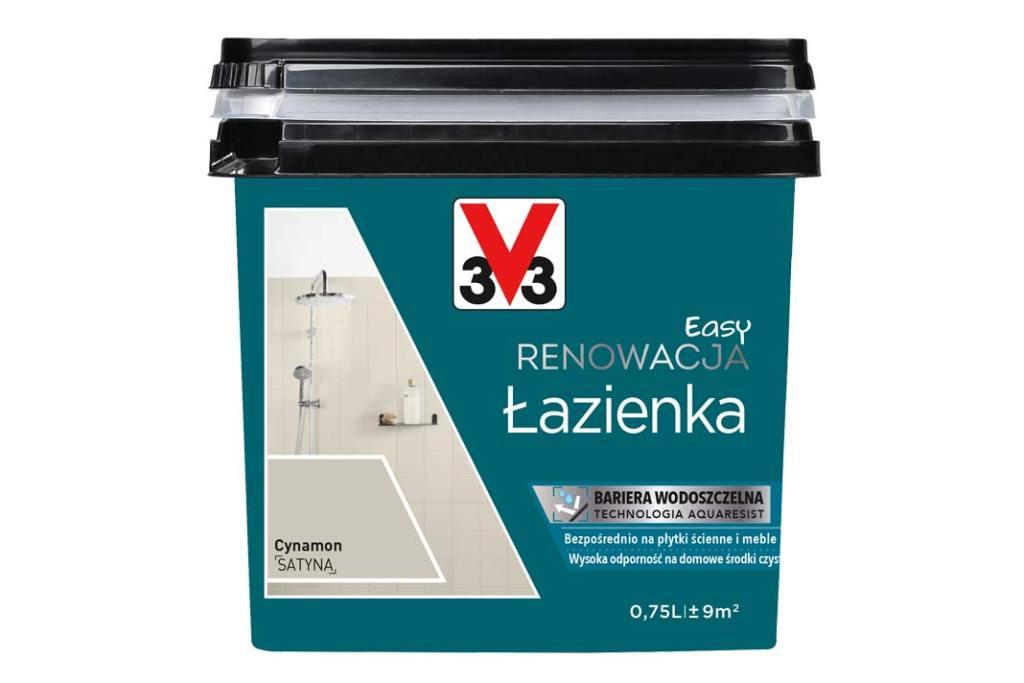 Remont łazienki tanim kosztem. Farba V33 Easy Renowacja Łazienka