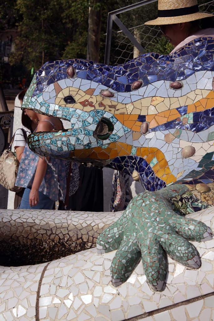 Salamandra w Parku Guell