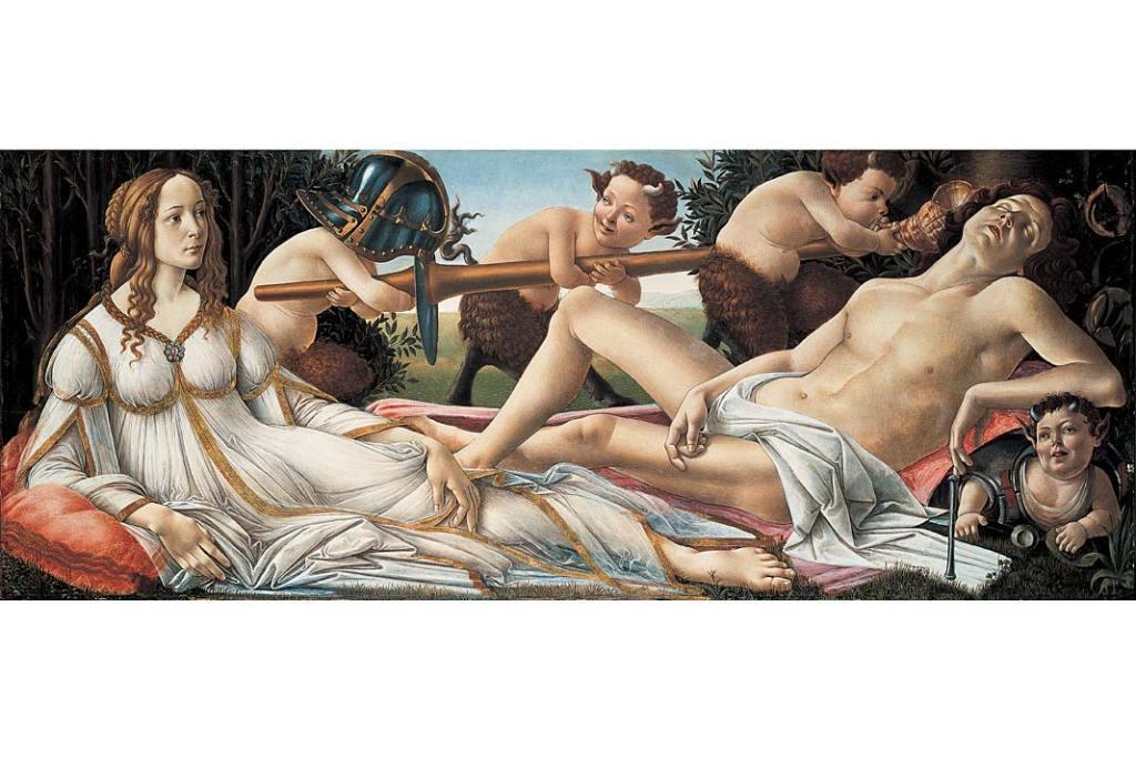 Sandro Botticelli, Wenus i Mars. Galeria Narodowa w Londynie - zbiory