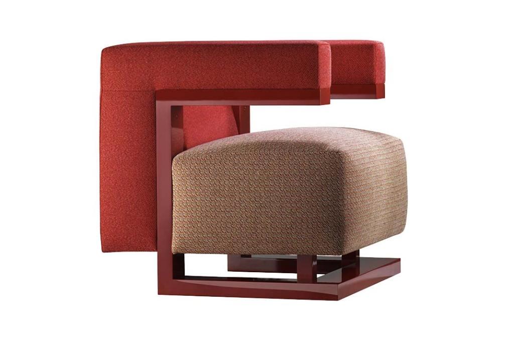 Styl retro w salonie, fotel F51 Gropius firmy Tecta