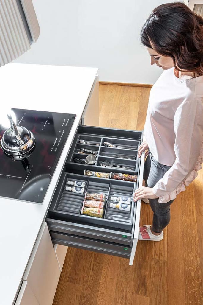 System Separado marki Peka oferuje 3 rodzaje wkładów do szuflad