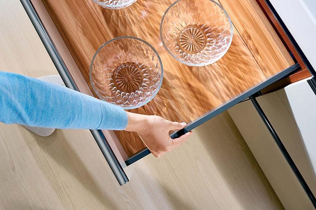 Szuflady kuchenne Amix SB SlimBox mają ultracienkie ścianki