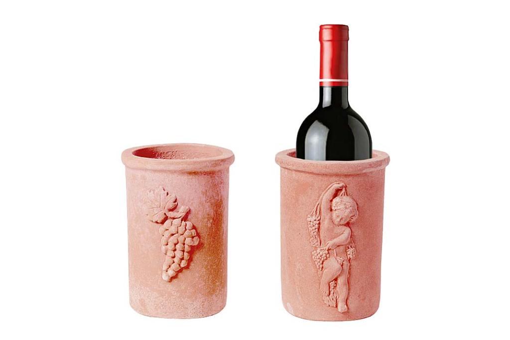 Modny kolor - terakota. Terakotowe naczynie na wino Terrecotte Poggi Ugo Impruneta