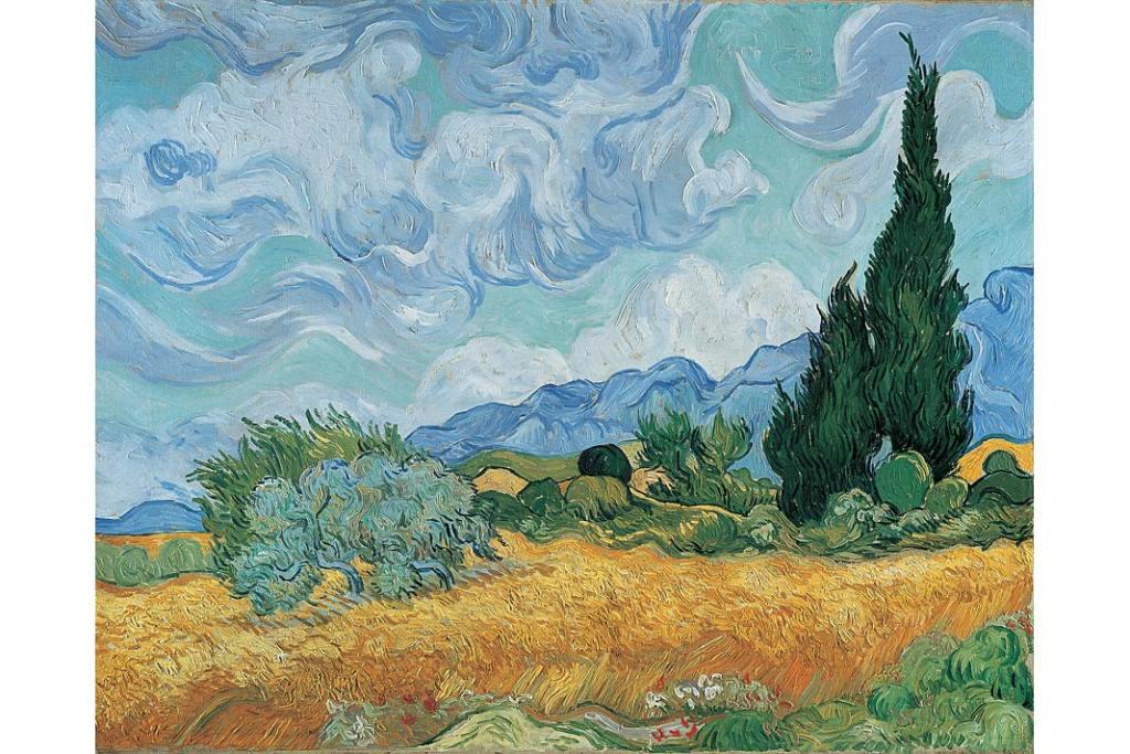 Vincent van Gogh, Pole pszenicy z cyprysami